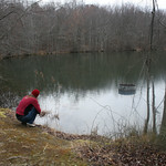 RMN Salamander Hike, March 3, 2012: Big pond. Photo by Eric Johnson.