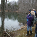 RMN Salamander Hike, March 3, 2012: Big pond again. Photo by Eric Johnson.