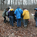 RMN Salamander Hike, March 3, 2012: Checking out an early discovery. Photo by Eric Johnson.